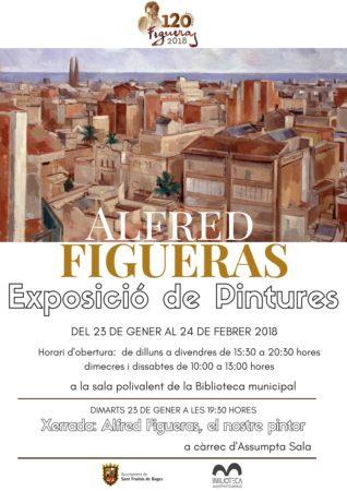 Exposició de Pintures d'Alfred Figueras @ Biblioteca municipal