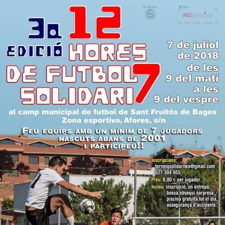 3a Edició de les 12 h de Futbol Solidari F7 @ Camp de Futbol