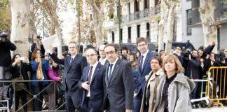 Alguns dels polítics empresonats sobre els quals pesen càrrecs de sedició i rebelió FOTO.EL MON