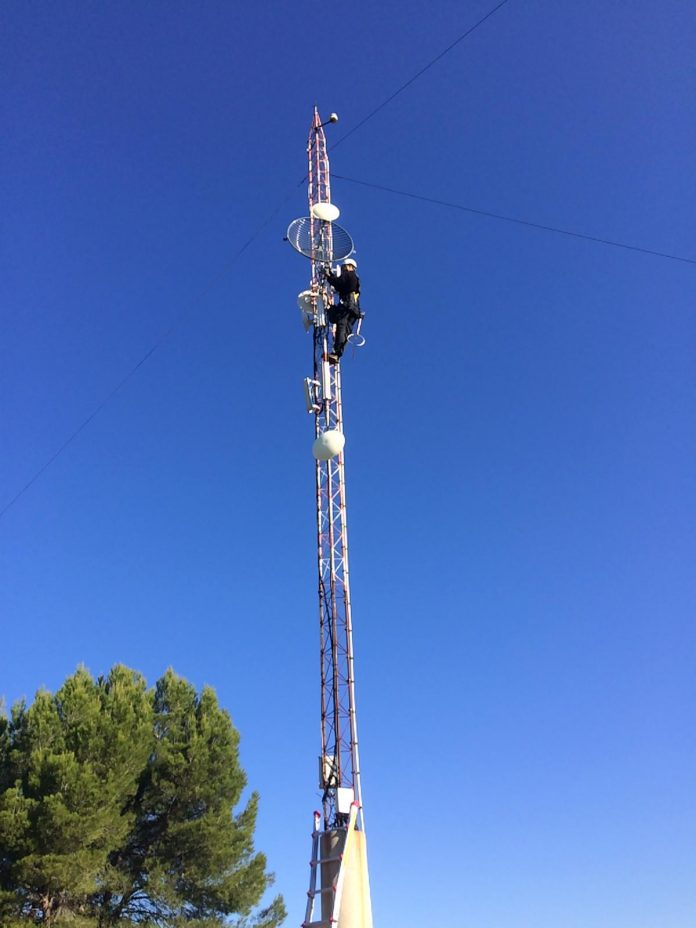 Nova antena de la ràdio municipal de Sant Fruitós de Bages FOTO.AJ.SANT FRUITÓS