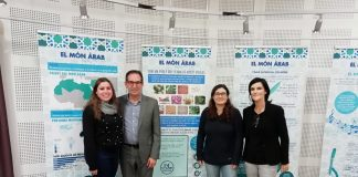 """Inauguració de la mostra """"El món àrab. Nos[altres]"""" a la biblioteca de Sant Fruitós. Fotografia: CC Bages"""