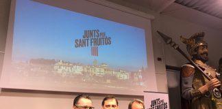 Josep Vives, el candidat Vicenç Llorens i Artur Mas. Fotografia: Junts Per Sant Fruitós