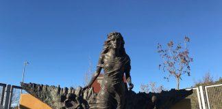 Escultura 'Endavant de Ramon Casas, donació de MACSA a l'Ajuntament de Sant Fruitós de Bages