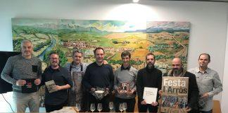 (d'esquerra a dreta) Jordi Planell (tècnic de Cultura), Xavier Racero (regidor de Cultura), Jaume Plans (7 d'Arròs i +Kvi), Genís Noguera (cap cuiners), Joan Ribas (Fundació Alícia), Ignasi Torras (editor del llibre), Pep Creus (autor del cartell) i Xavier Sagués (Som Riu d'Or)