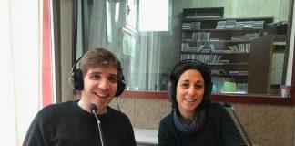 Paula Mora i Jordi Carulla, tècnics de Joventut de Sant Fruitós i representants del Nexe Jove de Sant Fruitós de Bages