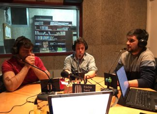 Javi Villareal (entrenador del Fruitosenc), Héctor García (capità del Fruitosenc) i Pere Vila (jugador del Fruitosenc)
