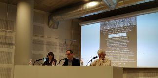Victòria Soler (Institut Gerbert d'Aurillac), Joan Carles Batanés (alcalde de Sant Fruitós de Bages) i Xavier Valls (Institut Pius Font i Quer)