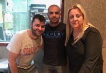 Javi Villareal, Joel Vega i Cristina Perarnau a l'estudi de Ràdio Sant Fruitós