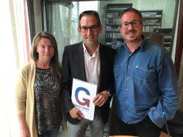 Imatge d'arxiu: Núria Clarella, Joan Carles Batanés i Xavier Racero de Gent fent Poble als estudis de Ràdio Sant Fruitós
