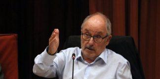 Pla mitjà del Síndic de Greuges, Rafael Ribó, durant la seva intervenció al Parlament, el 16-09-19/ Fotografia: ACN