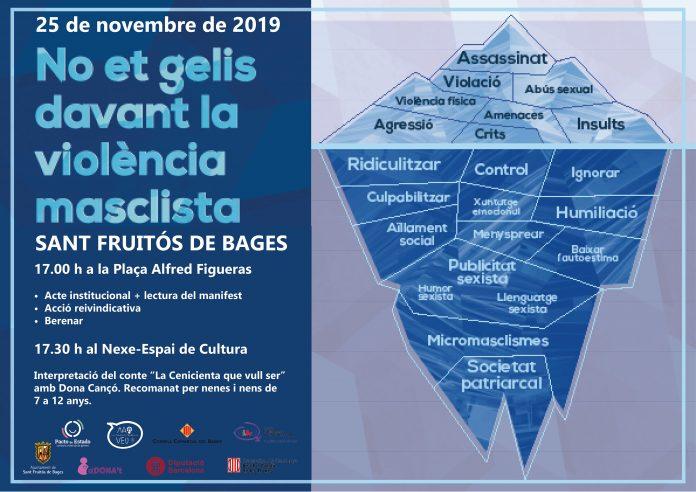 Cartell de les activitats per al Dia Internacional per a l'Eliminació de la Violència envers les Dones
