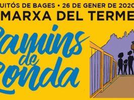 Cartell de la 23a Marxa del Terme de Sant Fruitós de Bages.