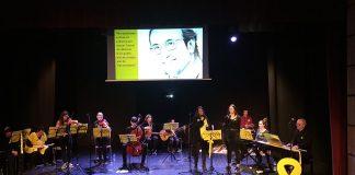 El concert de Música per la Llibertat al teatre Casal Cultural. - FOTO: Música per la Llibertat