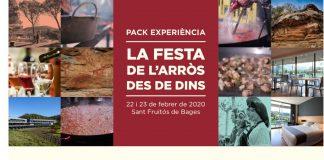 Cartell del paquet turístic de la festa de l'arròs.