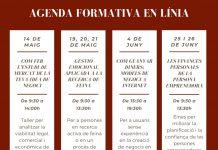 Agenda de les formacions que ofereix l'Ajuntament.