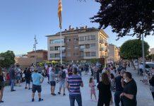 La concentració contra la moció de censura a Joan Carles Batanés.