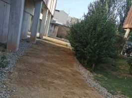 Arranjament de la via lateral per accedir al jardí interior de la Residència de El Lledoner.