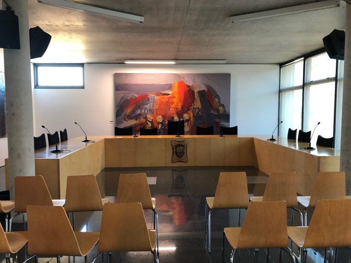 Sala de Plens de Sant Fruitós de Bages. - Foto: Aj. de SFB