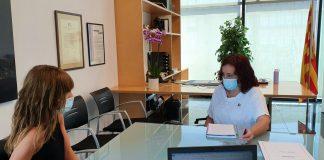 Visita d'Alba Camps, delegada del govern a la Catalunya Central