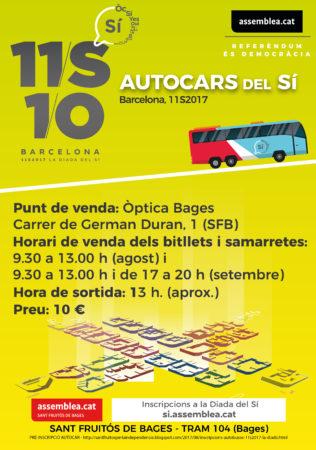 La Diada del SÍ - Sortida autocar cap a BCN @ Cobert de la Màquina de Batre