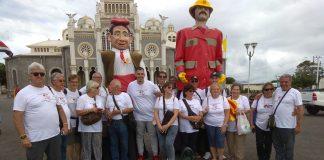 Representants catalans a la 'Encuentro de mascarades' de Costa Rica FOTO.AJUNTAMENT DE SANT FRUITOS