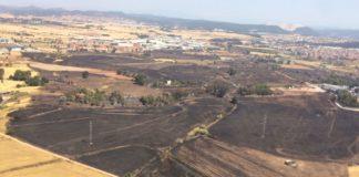 Àrea afectada per l'incendi que va cremar més de 100 hectàrees a Sant Fruitós el 22 de juny de 2017 FOTO.AJUNTAMENT DE SANT FRUITÓS