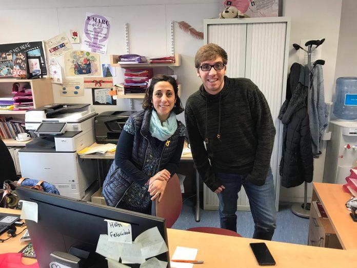 Paula Mora i Jordi Carulla, responsables del Nexe Jove i tècnics de Joventut