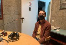 Toni Fornells als estudis de Ràdio Sant Fruitós.